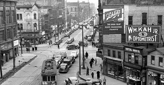 Vintage Photo of Downtown Milwaukee