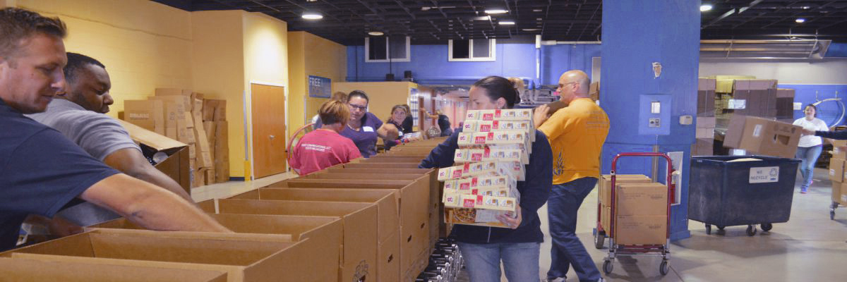PFCU employees volunteering in the community